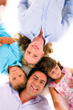 Family with two children Royalty Free Stock Image