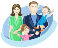 Family with two children Stock Photos