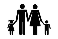 Family with two children pictogram royalty free illustration