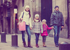 Family with two children posing Stock Image