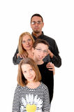 Family with two kids. Royalty Free Stock Photography