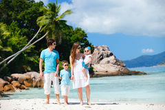 Family with two kids on vacation Royalty Free Stock Photo