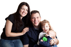 Family with Two Young Children Stock Photos