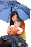 Family with umbrella Royalty Free Stock Photo