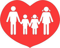 Family united in love Stock Photo