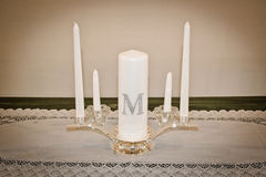 Family Unity Candle Royalty Free Stock Photography