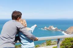 Family using binoculars Stock Images