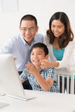 Family using computer Stock Photos