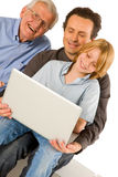 Family using pc tablet Stock Photos