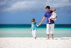 Family on vacation Stock Images