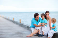 Family on vacation Royalty Free Stock Images