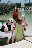 Family on Vacation. A family of two women and two children on vacation Stock Images