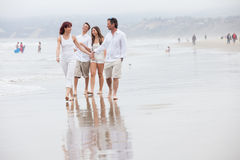 Family on vacation at the Beach Royalty Free Stock Image