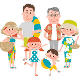 A family vacation on the beachfront. Vector illustration of a family vacation on the beachfront vector illustration
