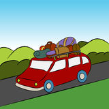 Family Vacation Car Trip Royalty Free Stock Photos