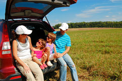 Family vacation, car trip Stock Photos