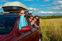 Family vacation, car trip on summer Stock Photography