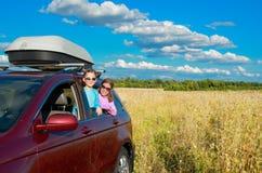 Family vacation, car trip on summer Stock Photos