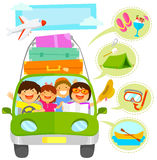 Family vacation cartoons set Royalty Free Stock Photos
