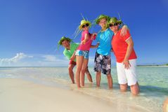 Family on vacation in Cuba Stock Photos