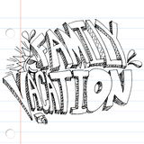 Family Vacation Drawing Stock Image