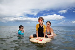 Family on vacation. Family Surfing. Summer holidays. The family on vacation. Family Surfing. Summer holidays royalty free stock photos