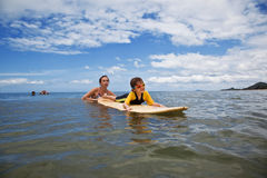Family on vacation. Family Surfing. Summer holidays. The family on vacation. Family Surfing. Summer holidays stock photo