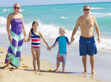 Family Vacation Fun at the Beach Royalty Free Stock Photo