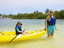 Family Vacation Fun in the Islands Royalty Free Stock Photography