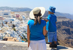 Family on vacation in Greece Royalty Free Stock Photography