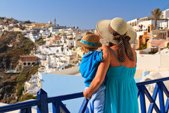 Family on vacation in Greece Royalty Free Stock Image
