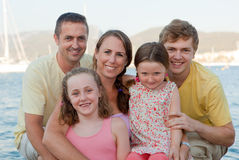 Family vacation group Stock Photography