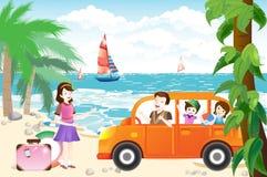 Family Vacation. Happy family - illustraion eps 10 Stock Photography