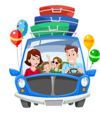 Family Vacation, illustration Royalty Free Stock Images