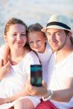 Family vacation portrait Stock Photos