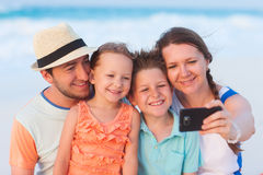 Family vacation portrait Royalty Free Stock Images