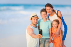 Family vacation portrait Stock Photos
