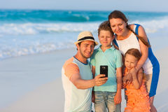 Family vacation portrait Royalty Free Stock Photos