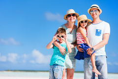 Family vacation portrait Stock Images