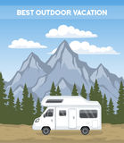 Family vacation Road trip poster template Stock Image