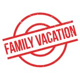 Family Vacation rubber stamp Royalty Free Stock Photography