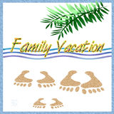 Family Vacation Scrapbook Stock Image