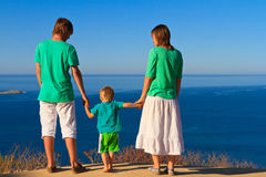 Family on vacation at the sea Stock Image