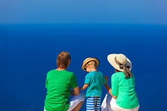 Family on vacation at the sea Royalty Free Stock Photography