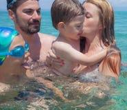 Family Vacation Sea Water Stock Image