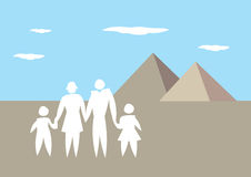 Family Vacation to Egypt Vector Illustration Stock Images
