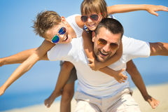 Family, vacation, tourism concept Stock Image