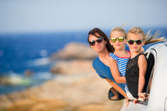 Family on vacation travel by car. Summer holiday and car travel concept Stock Photo