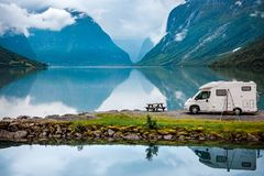 Free Family Vacation Travel RV, Holiday Trip In Motorhome Royalty Free Stock Image - 110077496