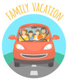 Family vacation trip by car Stock Photo